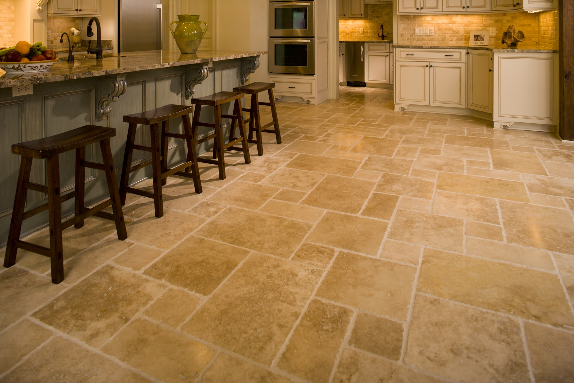 Kitchen Floor Stone Tiles Floor And Wall Tile Installation Panama City Beach Fl Seashore Tile